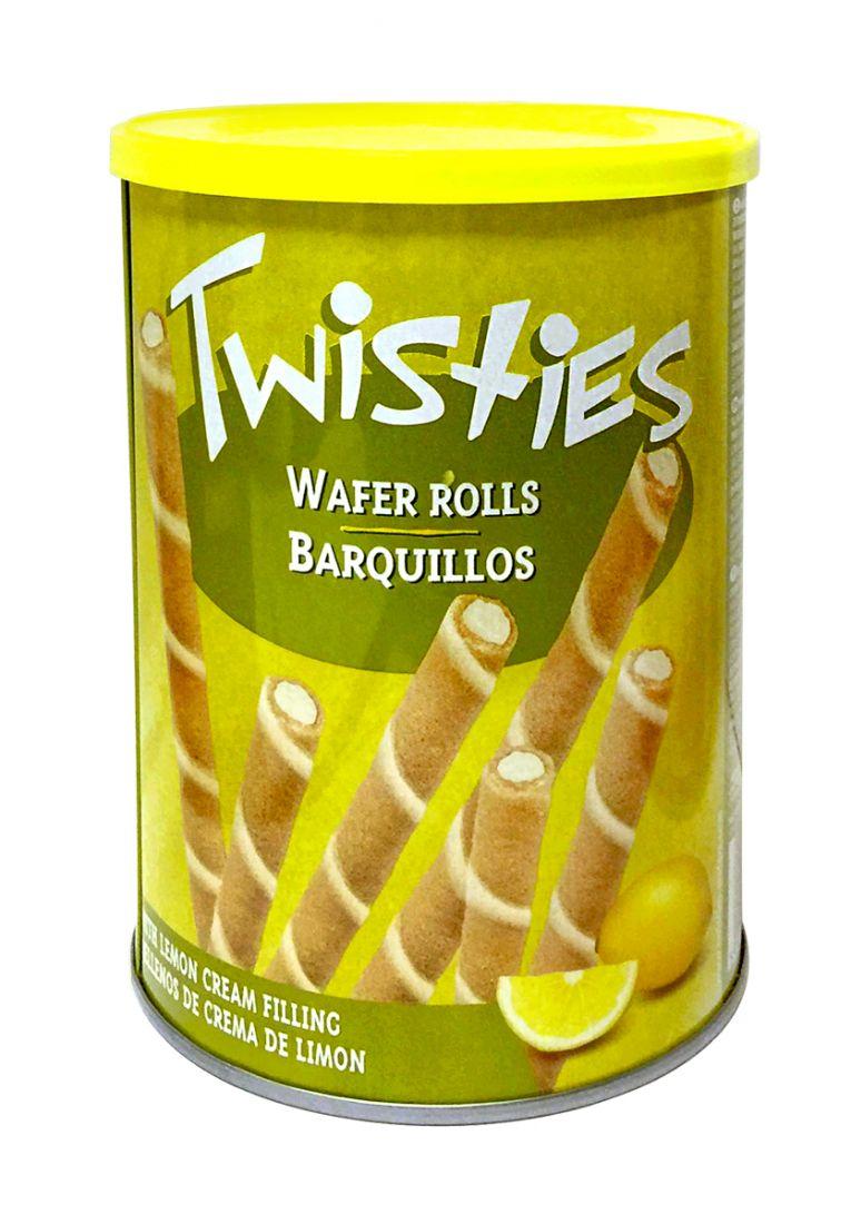 Вафельные трубочки с лимонным кремом Twisties - 400 гр