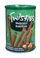 Вафельные трубочки с кремом из лесного ореха и какао Twisties - 400 гр
