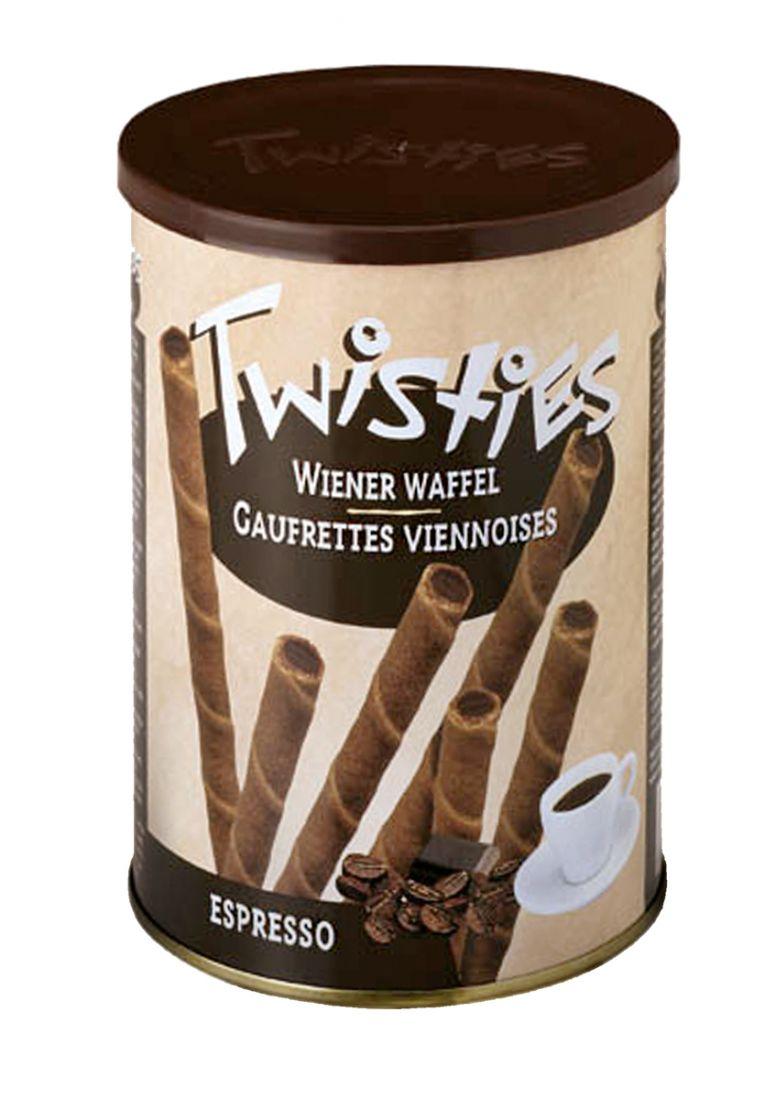 Вафельные трубочки с кофейным кремом эспрессо кремом Twisties - 400 гр