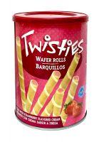 Вафельные трубочки с клубничным кремом Twisties - 400 гр