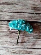роза бумажная диаметр 1,5 см МЯТНАЯ    цена за 5 шт