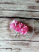 роза бумажная 25-30 мм РОЗОВАЯ   цена за 5 шт