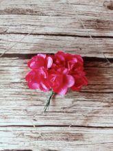 роза бумажная 25-30 мм ФУКСИЯ   цена за 5 шт