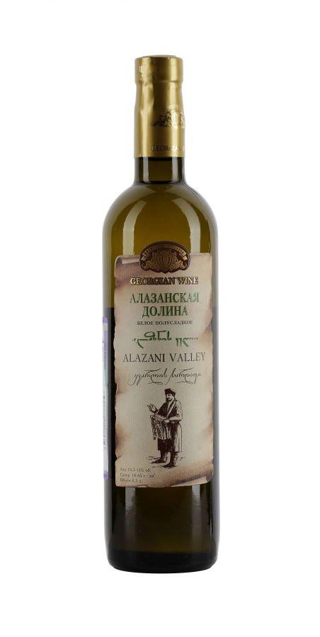 Вино Алазанская долина, Кварельский Погреб, белое, полусладкое, 0,5