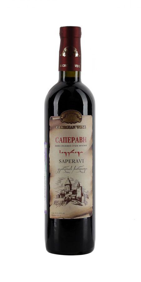 Вино Саперави, Кварельский Погреб, красное, сухое, 0,5