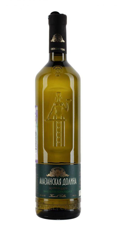 Вино Алазанская долина, Мать Грузии, белое, полусладкое, 0,75