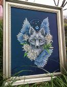 Схема для вышивки крестом Ловец снов - Волк1. Отшив.