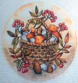 """Схема для вышивки крестом """"Осеннее лукошко"""". Отшив."""