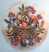 """Cross stitch pattern """"Autumn gifts""""."""