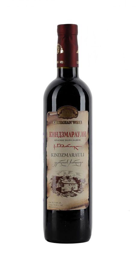 Вино Киндзмараули, Кварельский Погреб, красное, полусладкое, 0,5