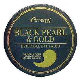 Esthetic House Black Pearl and Gold Hydrogel Eye Patch 60шт - гидрогелевые патчи для кожи вокруг глаз с жемчугом и золотом