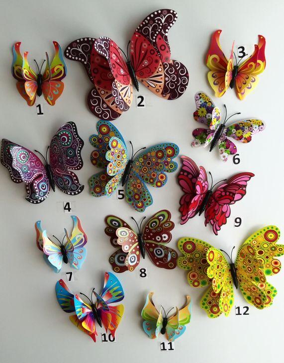 3D бабочка на магните - 2