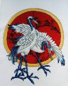 Схема для вышивки крестом Журавли. Отшив.