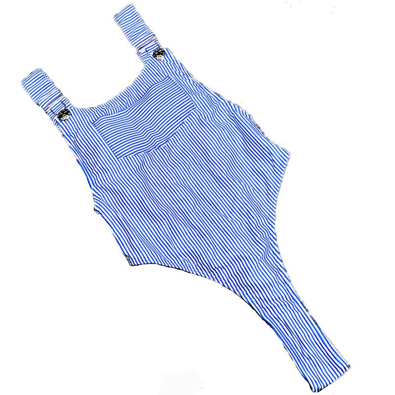 Купальник - комбинезон в синем цвете