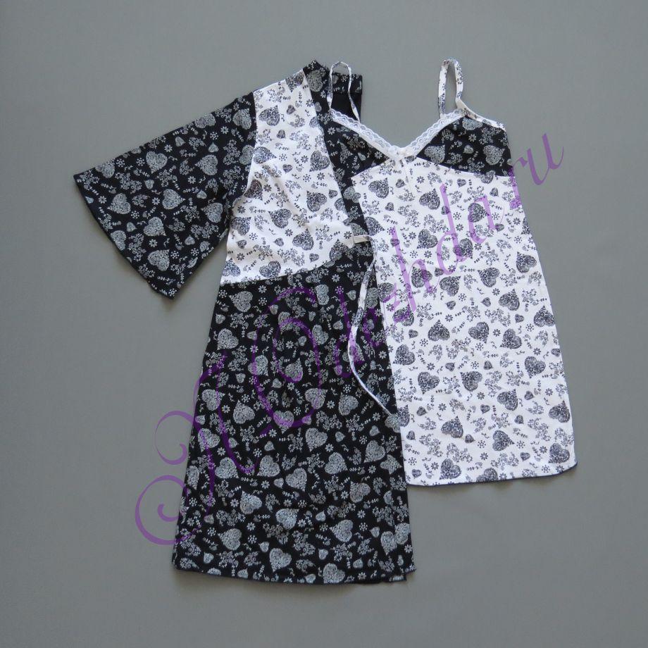 Комплект - халат с ночной сорочкой