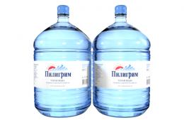Вода Пилигрим 2 бутыли по 19 литров, пэт.