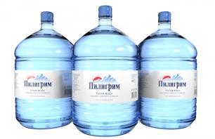 Вода Пилигрим 3 бутыли по 19 литров, пэт.