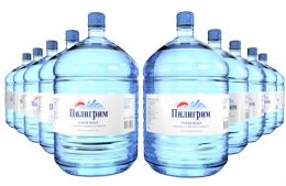 Вода Пилигрим 10 бутылей по 19 литров, пэт.