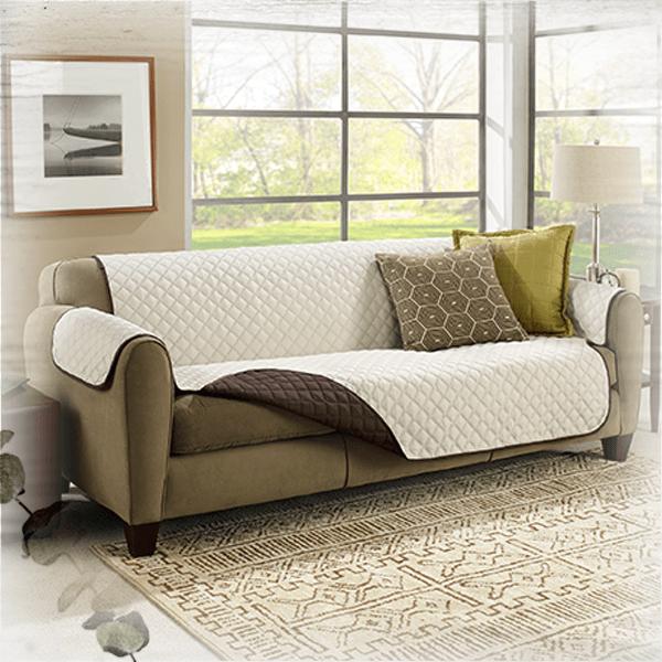 Двустороннее стеганное покрывало для дивана Couch Coat