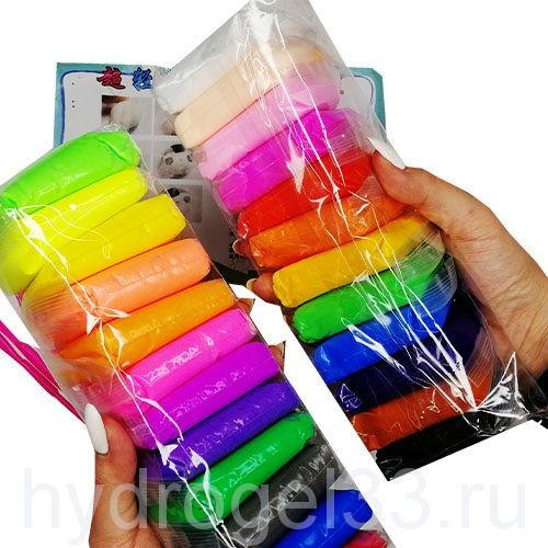 Набор 24 шт воздушного пластилина