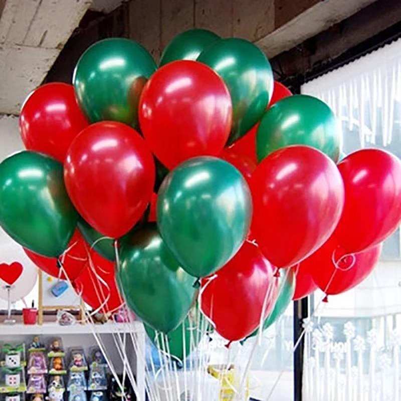 Набор шаров металлик (цвет - red and green)