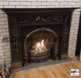 Газовый камин INFIRE ART CLASSIC 90 + FRAME LADY