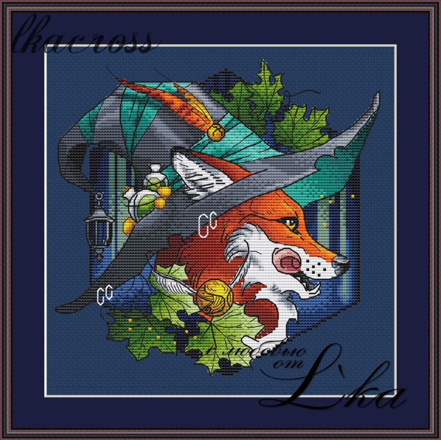 """Fox 3"". Digital cross stitch pattern."