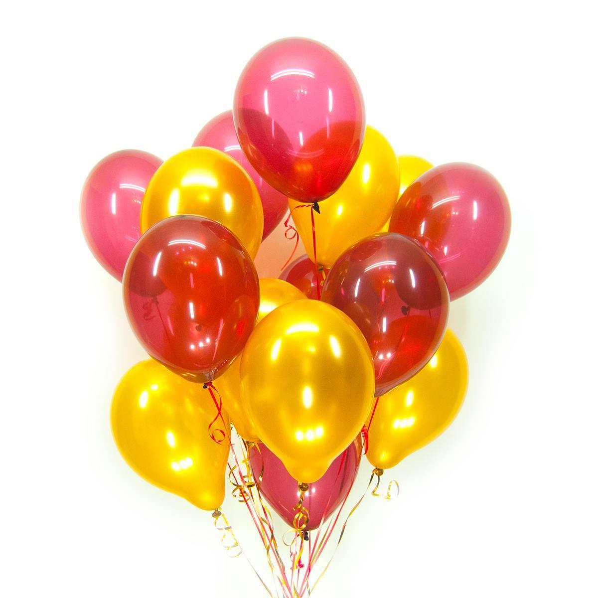 Набор шаров металлик (цвет - red and yellow)
