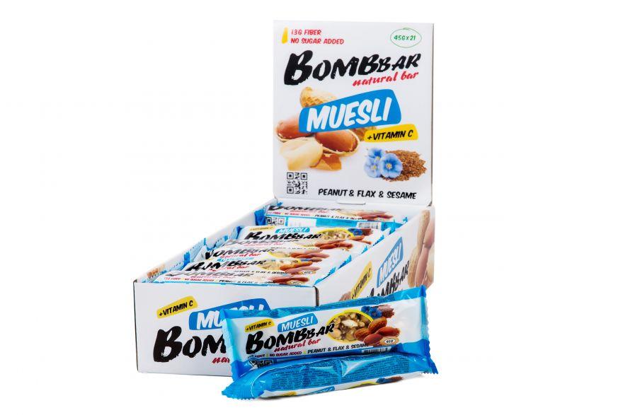 Батончик Bombbar Muesli (Bombbar) 45 г 21 шт