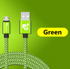 USB - кабель (USB - microUSB) 2м зеленый