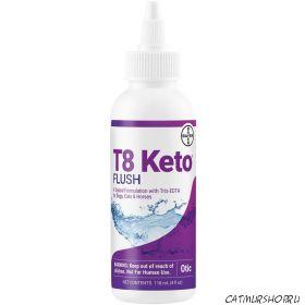 T8 Keto Flush - 118 мл. раствор для ушей с антибактериальной и противогрибковой активностью