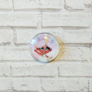 кабошон Hairdorables диаметр 25 мм материал стекло