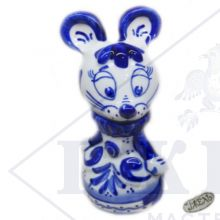 Гжель Символ Года 2020 ОПТОМ - Мышка Королева 12,5х5х5см