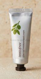 Innisfree olive real moisture hand cream (50 мл) - Увлажняющий и питательный крем для рук с комплексом масел оливы, Ши, подсолнечника, кокоса, жожоба