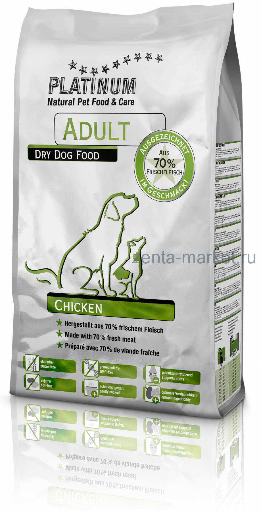 Platinum Сhicken (курица для взрослых собак) 1.5кг, 5кг,10кг, 15кг, 31.5 кг;