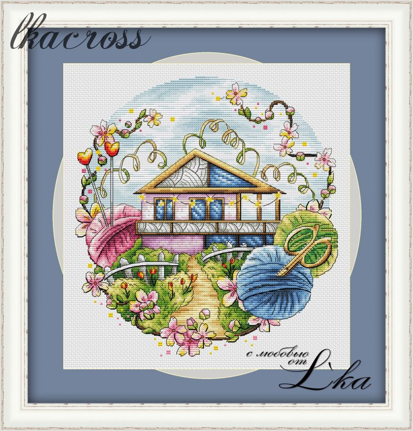 """Handmade spring"". Digital cross stitch pattern."