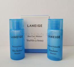 Laneige  Basic Care Moisture trial kit (2 Items): Essential Power Skin Refiner Moisture (15 ml/25ml)+ Essential Balancing Emulsion Moisture (15/25 ml) - Набор из 2 миниатюр увлажняющий от Ланейдж:увлажняющий и тонизирующий тонер и эмульсия (по 15/25мл)