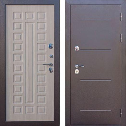 Входная дверь ИЗОТЕРМА 11 см лиственница мокко