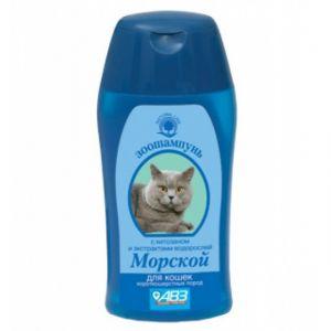 """Шампунь Агроветзащита """"Морской"""" для короткошерстных кошек, 160гр"""