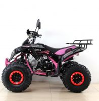 Квадроцикл подростковый бензиновый MOTAX ATV Raptor Lux черно-розовый вид 2