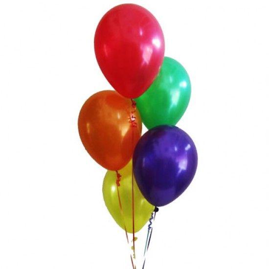 5 гелиевых шаров