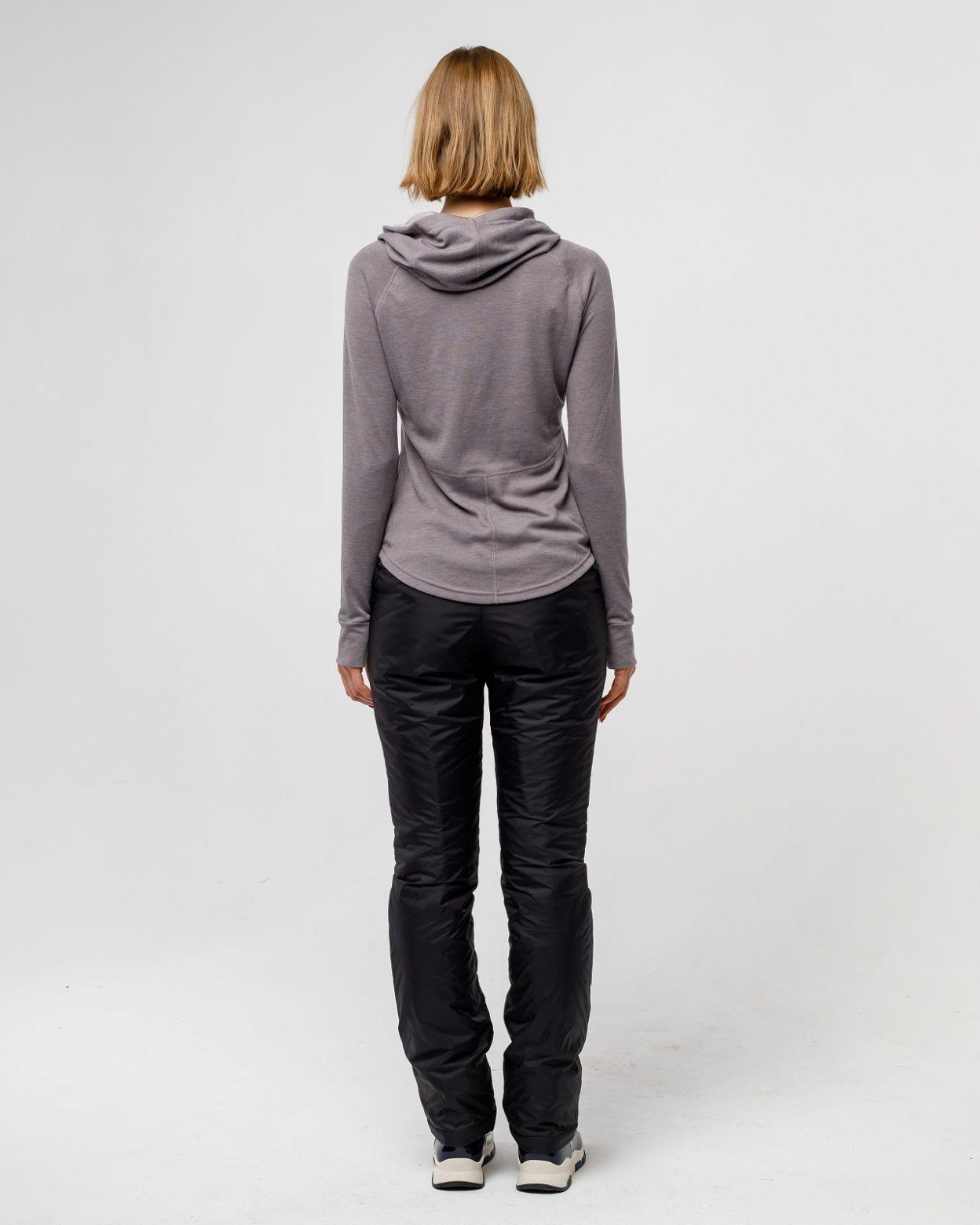 Плащевые женские черные брюки HEIDEN вид1