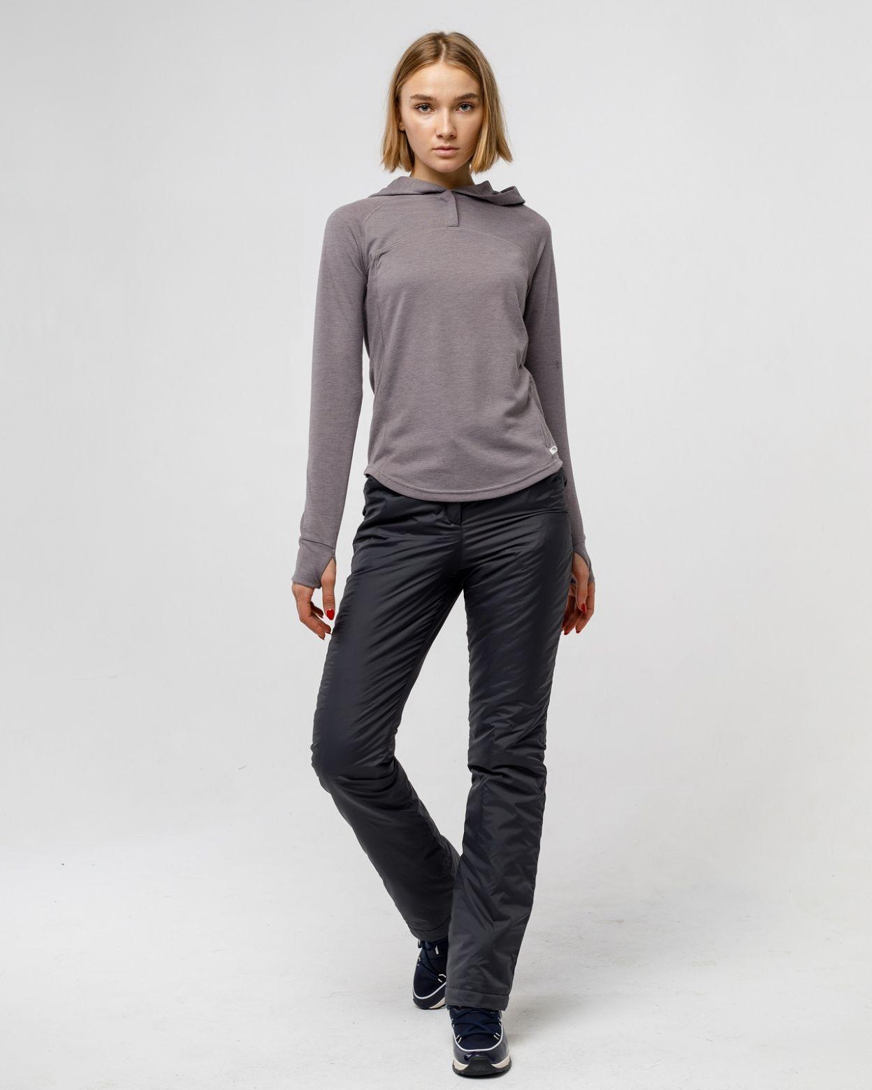 Плащевые женские серые брюки HEIDEN  вид2