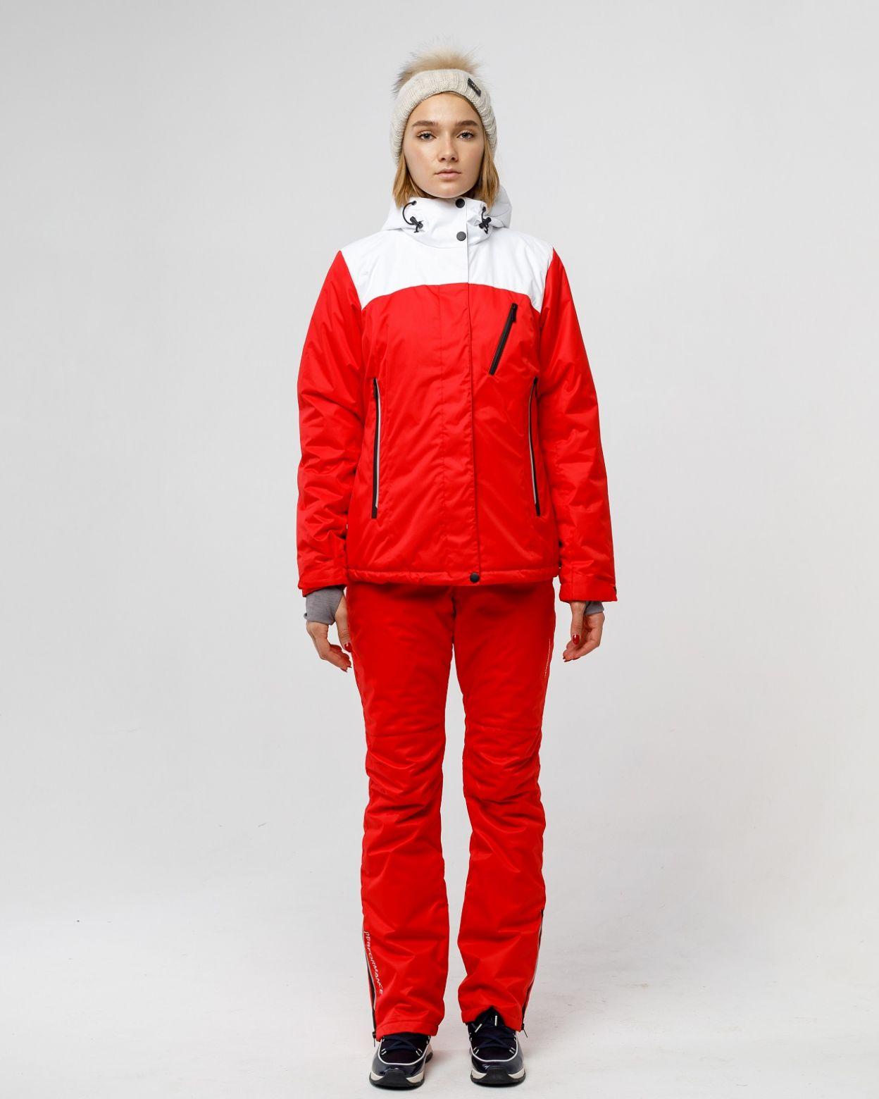 Женский мембранный спортивный костюм выполнен из современного материала с плетениемquotтвилquot Куртка имеет несъемный капюшон с резиновой утяжкой и фиксаторами также капюшон имеет небольшой козырек В куртке использовано водоотталкивающая молния которая з
