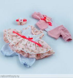 Костюм для куклы 50 см. Розовый