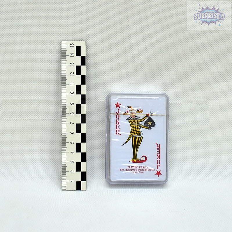 Карты игральные пластиковые Poker(P-013 Пластик.коробка)(54листа)