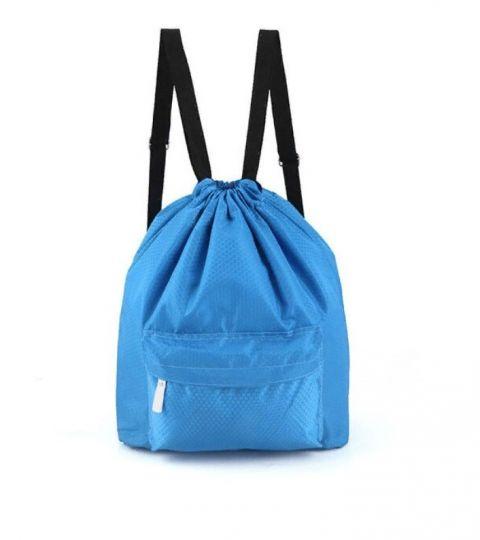 Пляжная сумка-рюкзак с отделением для мокрых вещей, 30х40 см (цвет голубой)
