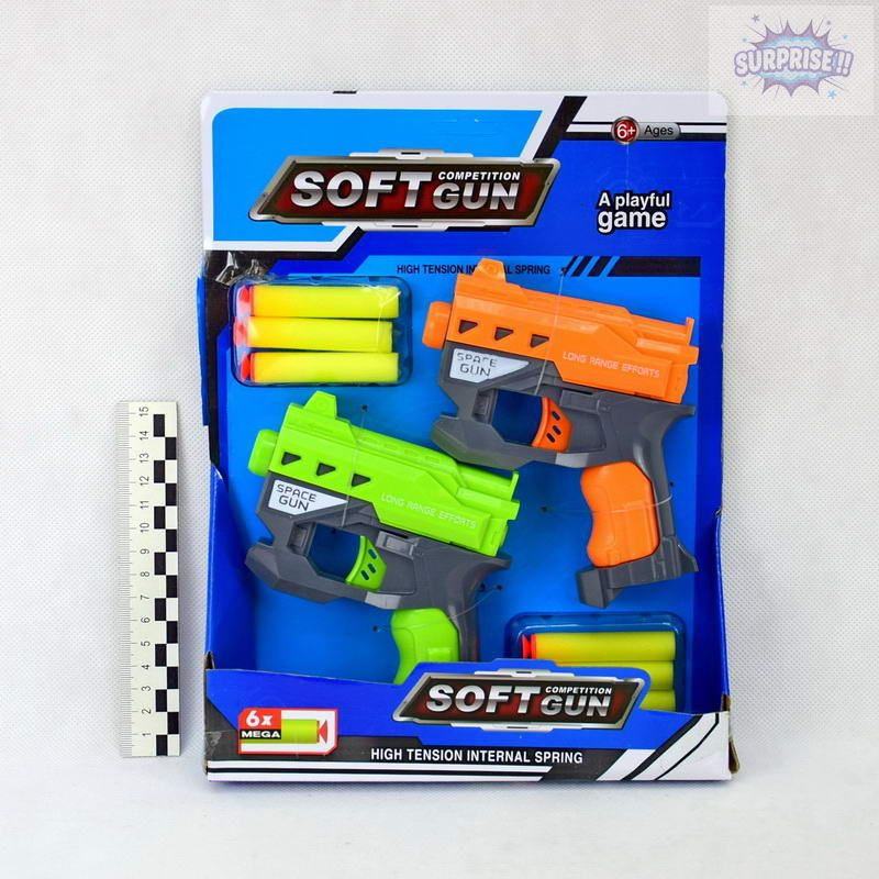 Пистолет Бластер Space Gun2 с пулями на присоске(№826-24)
