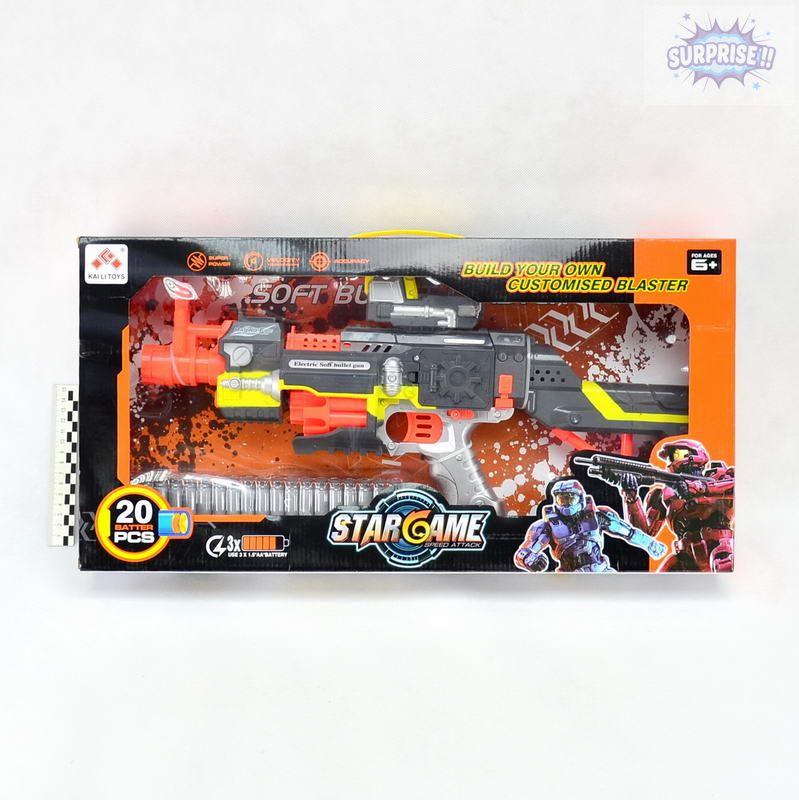 Пистолет Бластер StarGame с пулями на присоске (№SB418)