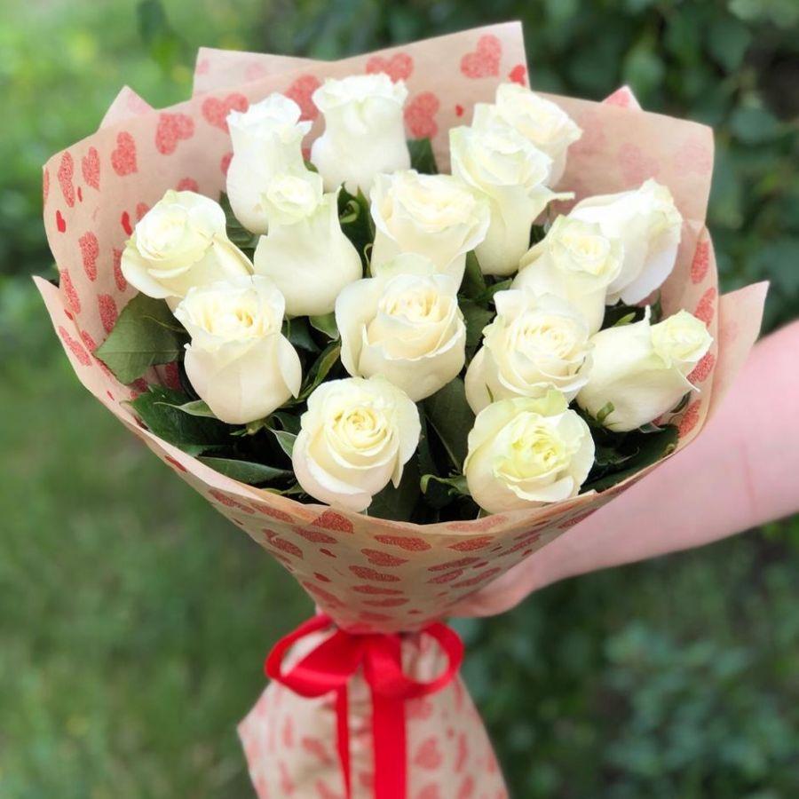 Букет из белых роз (60 см)